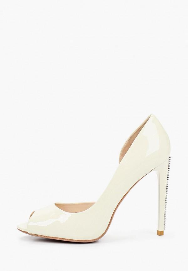 женские туфли с открытым носом vitacci, белые