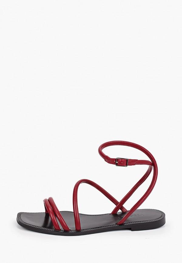 женские сандалии vitacci, бордовые