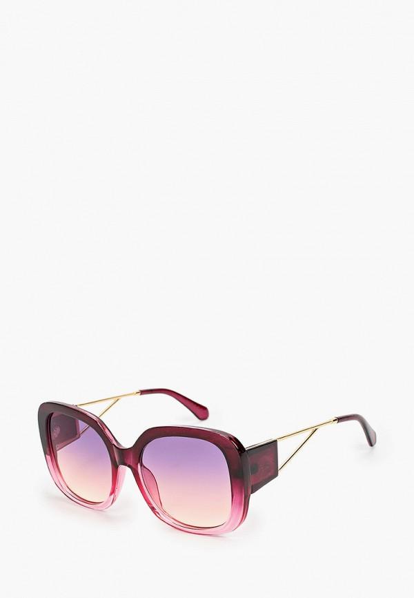 женские квадратные солнцезащитные очки vitacci, бордовые