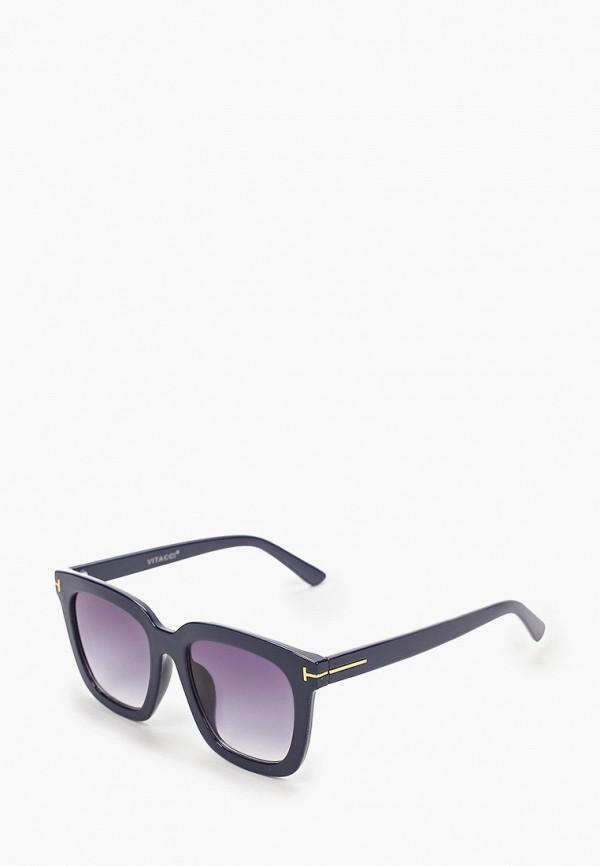 женские квадратные солнцезащитные очки vitacci, синие