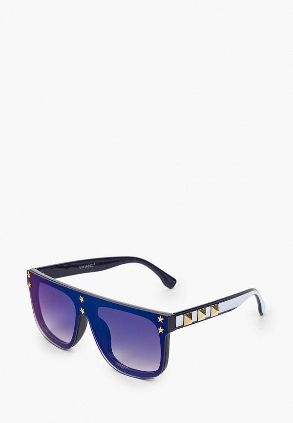 женские авиаторы солнцезащитные очки vitacci, синие