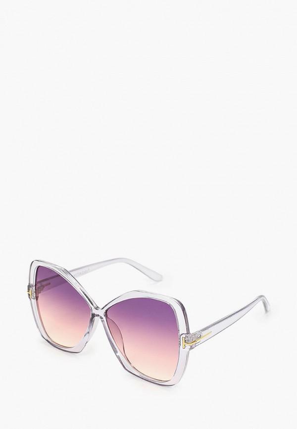 женские солнцезащитные очки кошачьи глаза vitacci, фиолетовые