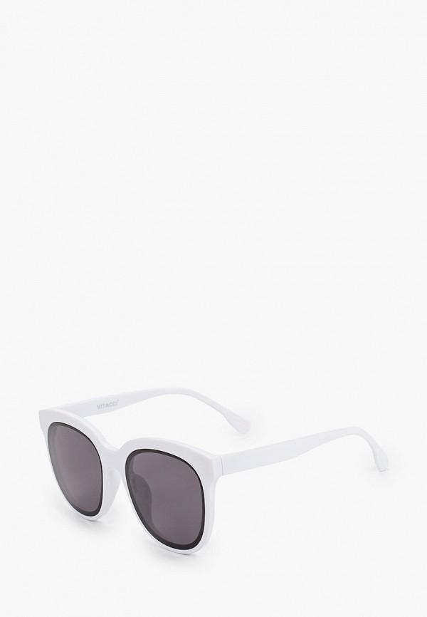 женские круглые солнцезащитные очки vitacci, белые