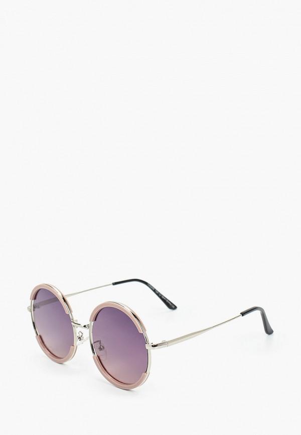 женские круглые солнцезащитные очки vitacci, бежевые
