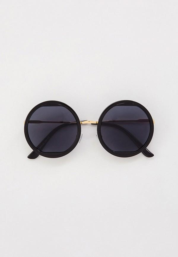 женские круглые солнцезащитные очки vitacci, черные