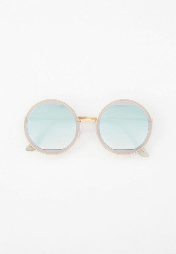 женские круглые солнцезащитные очки vitacci, серые