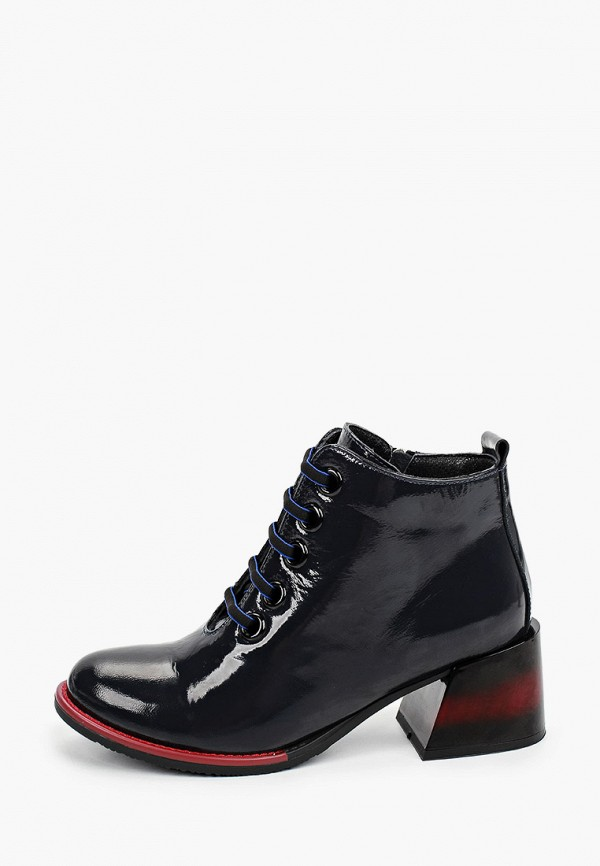 женские высокие ботинки ascalini, синие