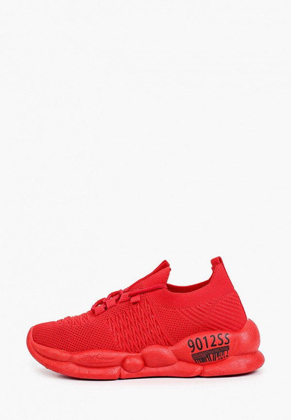 женские низкие кроссовки king boots, красные