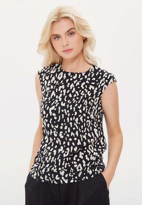 женская блузка с коротким рукавом lezzarine, черная