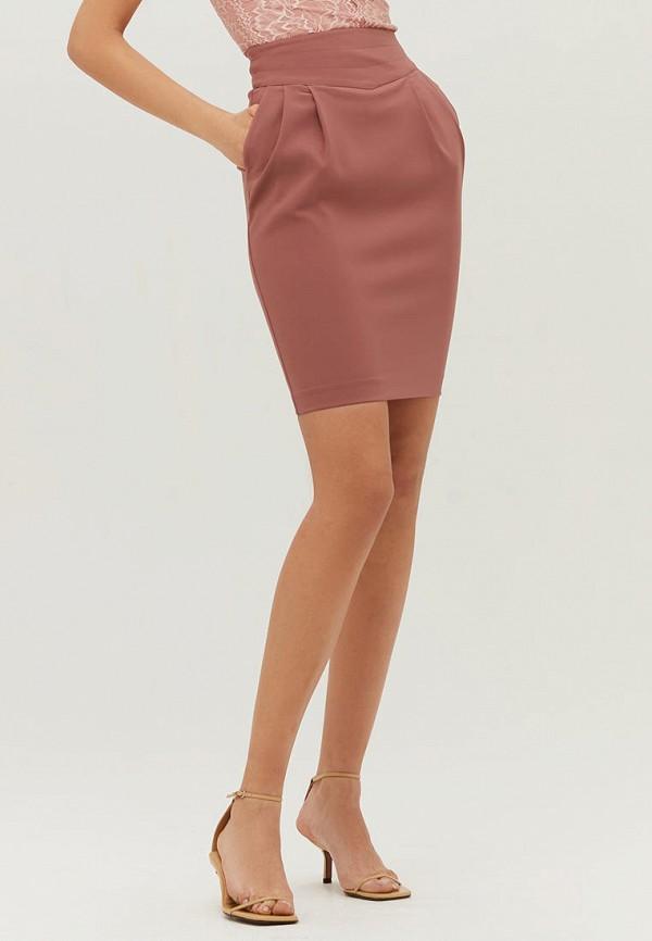 женская прямые юбка love republic, розовая