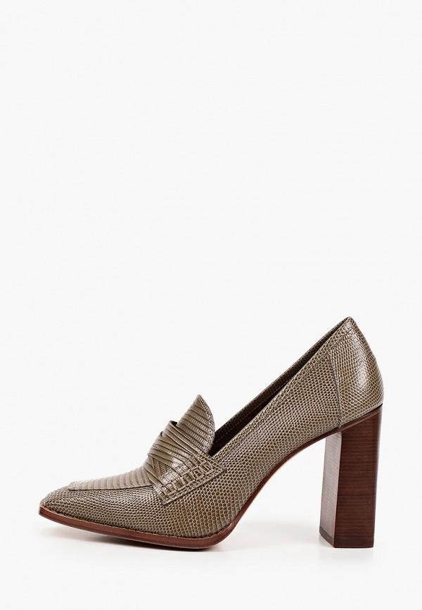 женские туфли с закрытым носом эконика, хаки