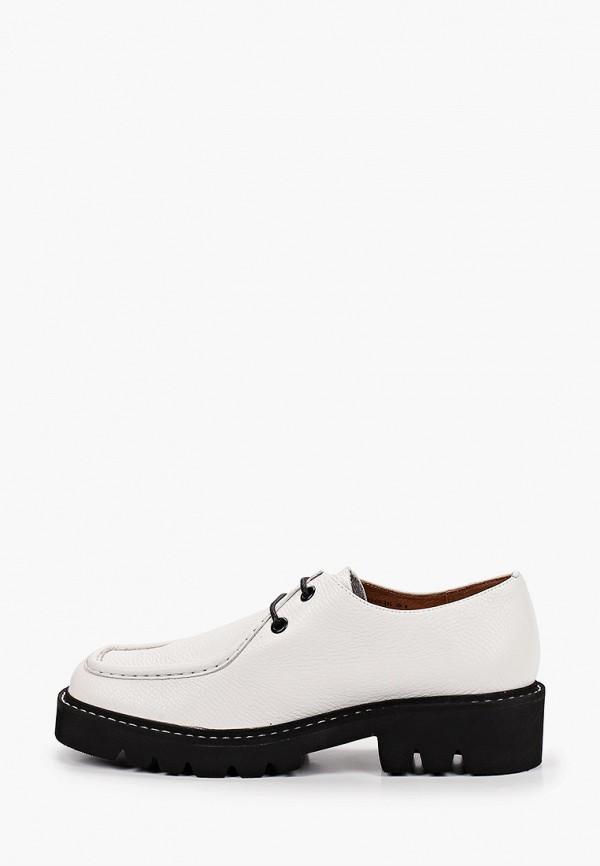 женские низкие ботинки эконика, белые
