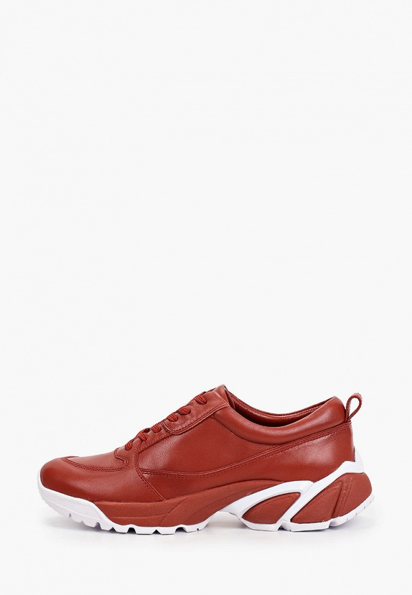женские низкие кроссовки alla pugachova, бордовые