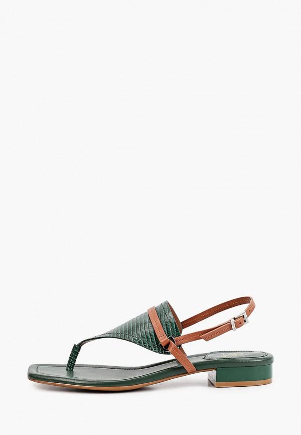 женские сандалии эконика, зеленые