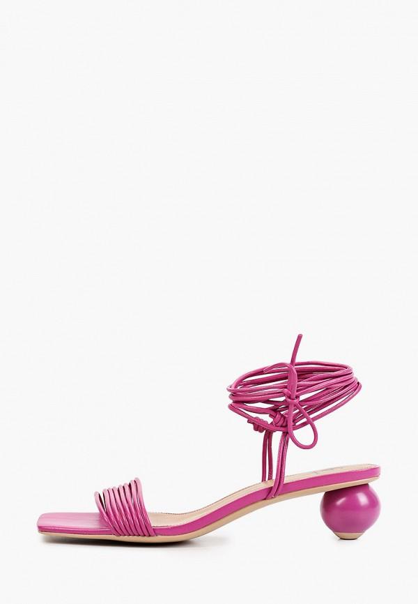женские босоножки эконика, фиолетовые
