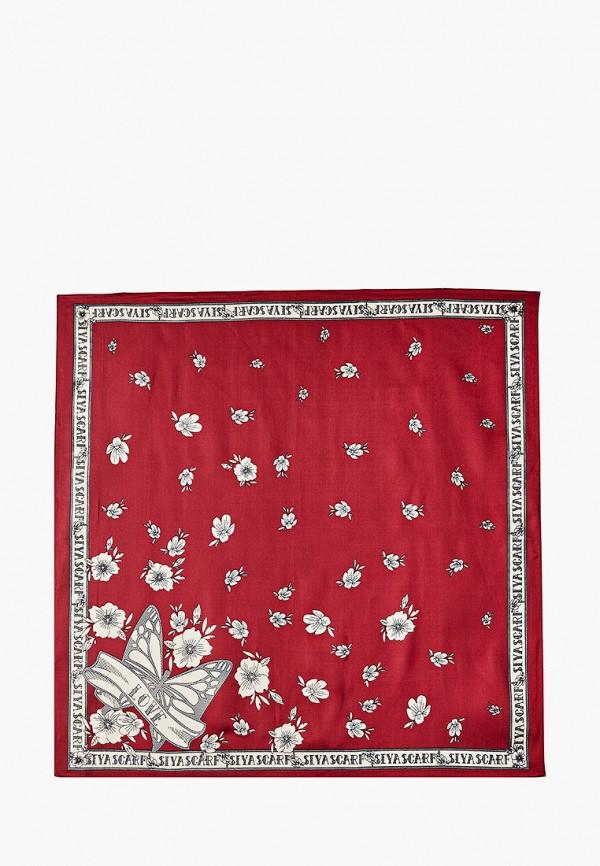 женский платок mon mua, бордовый
