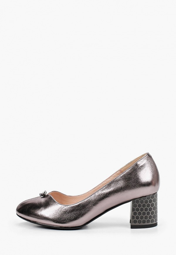женские туфли с закрытым носом ascalini, серебряные