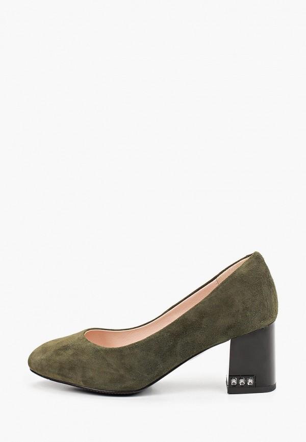 женские туфли с закрытым носом ascalini, зеленые