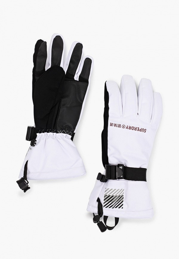 женские текстильные перчатки superdry, белые