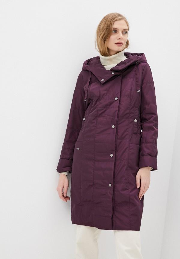 женская утепленные куртка dizzyway, фиолетовая