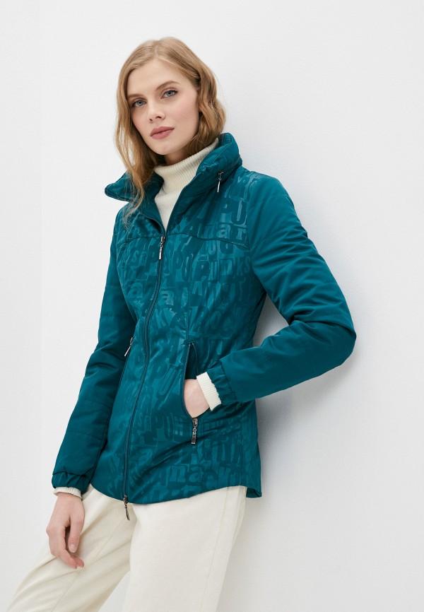 женская утепленные куртка dizzyway, зеленая