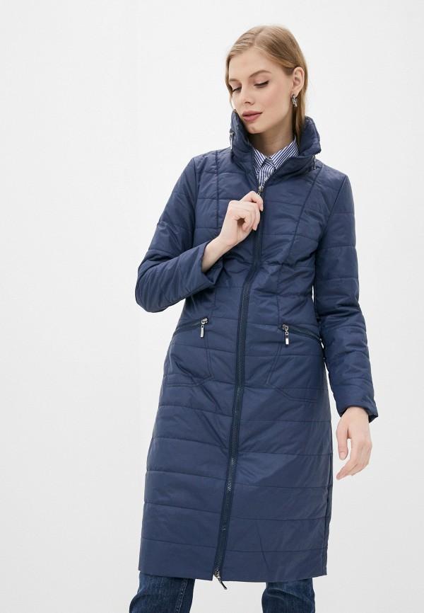 женская утепленные куртка dizzyway, синяя
