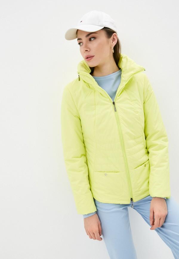 женская утепленные куртка dizzyway, желтая