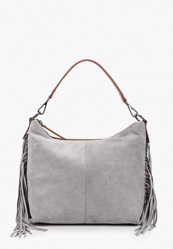женская сумка с ручками alla pugachova, серая