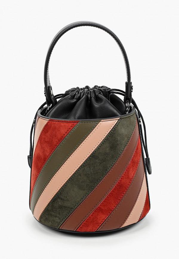 женская сумка-ведро alla pugachova, разноцветная