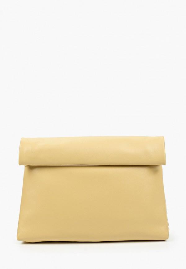 женский клатч alla pugachova, желтый