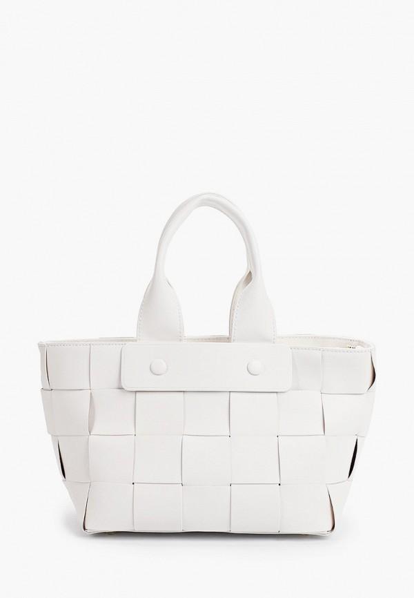 женская сумка с ручками alla pugachova, белая