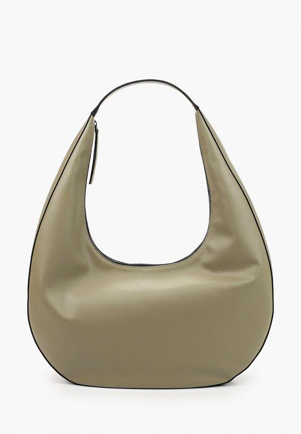 женская сумка с ручками эконика, хаки