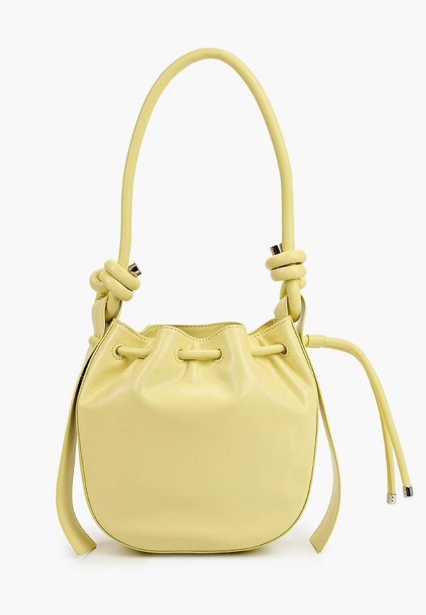 женская сумка с ручками эконика, желтая