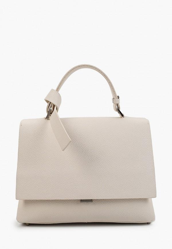 женская сумка с ручками эконика, белая