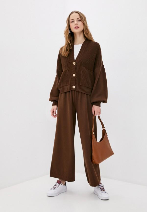 женский вязаные костюм ksi ksi, коричневый