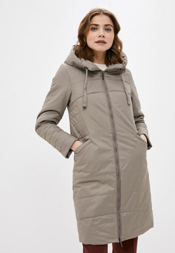 женская утепленные куртка dizzyway, бежевая