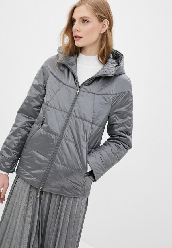 женская утепленные куртка dizzyway, серая