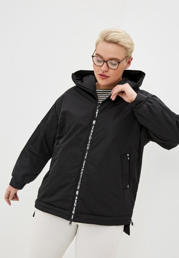 женская утепленные куртка dizzyway, черная