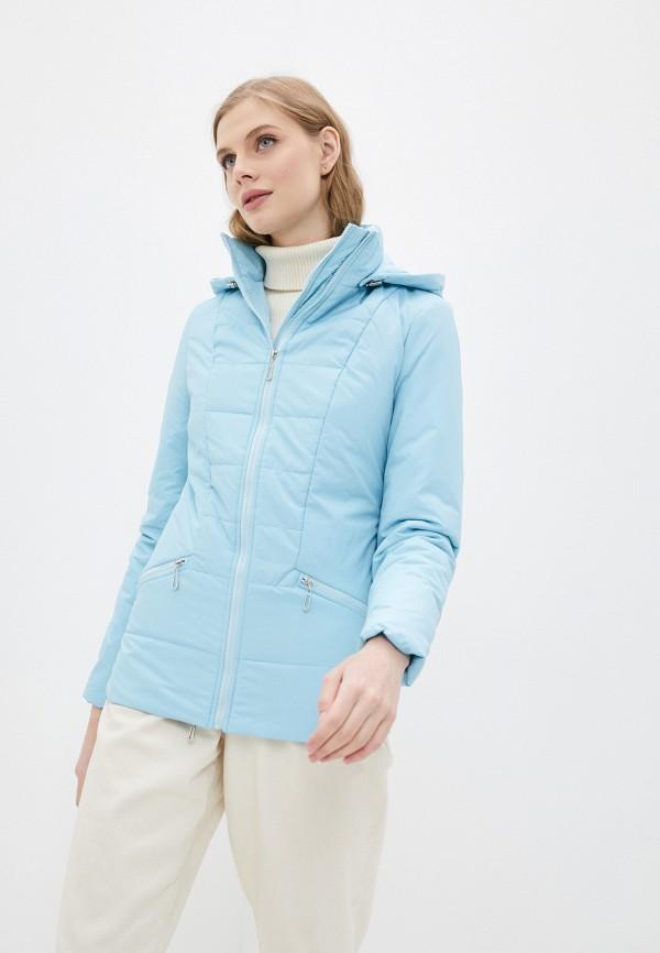 женская утепленные куртка dizzyway, голубая