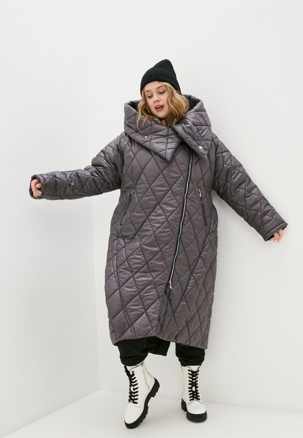 женская утепленные куртка lilaccat, серая