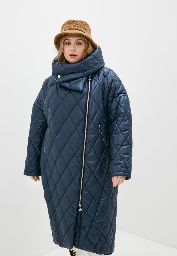 женская утепленные куртка lilaccat, синяя