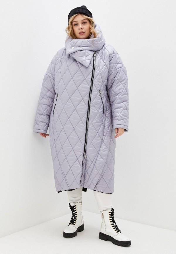 женская утепленные куртка lilaccat, голубая