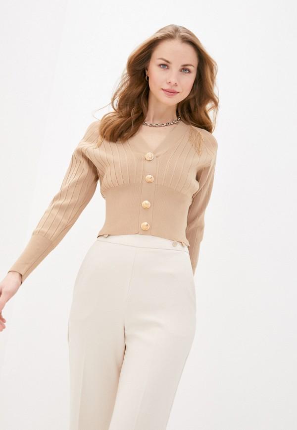женский пуловер love republic, бежевый