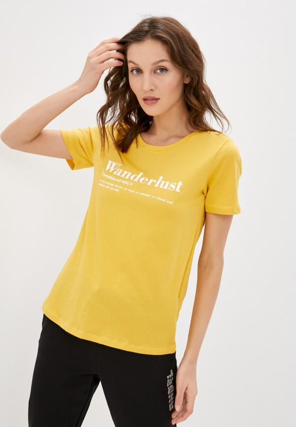 женская футболка colin's, желтая
