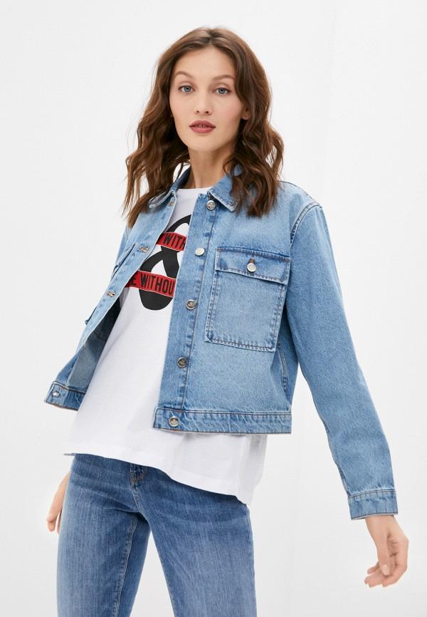 женская джинсовые куртка colin's, синяя