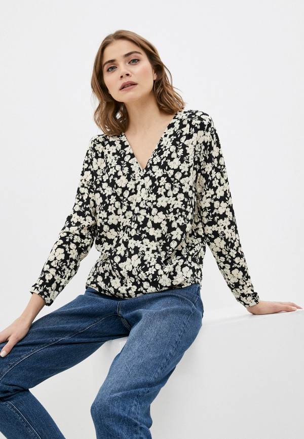 женская блузка с длинным рукавом colin's, черная