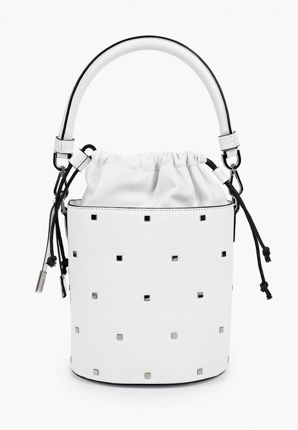 женская сумка-ведро eleganzza, белая