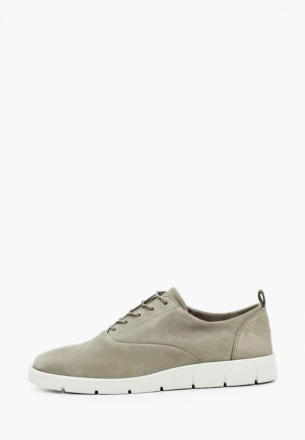 женские низкие ботинки ecco, зеленые
