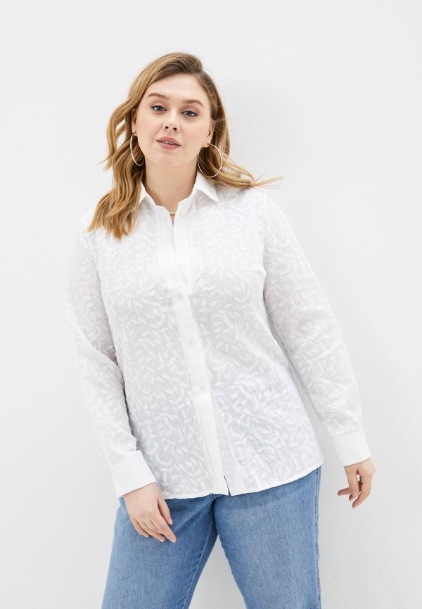 женская рубашка с длинным рукавом prewoman, белая