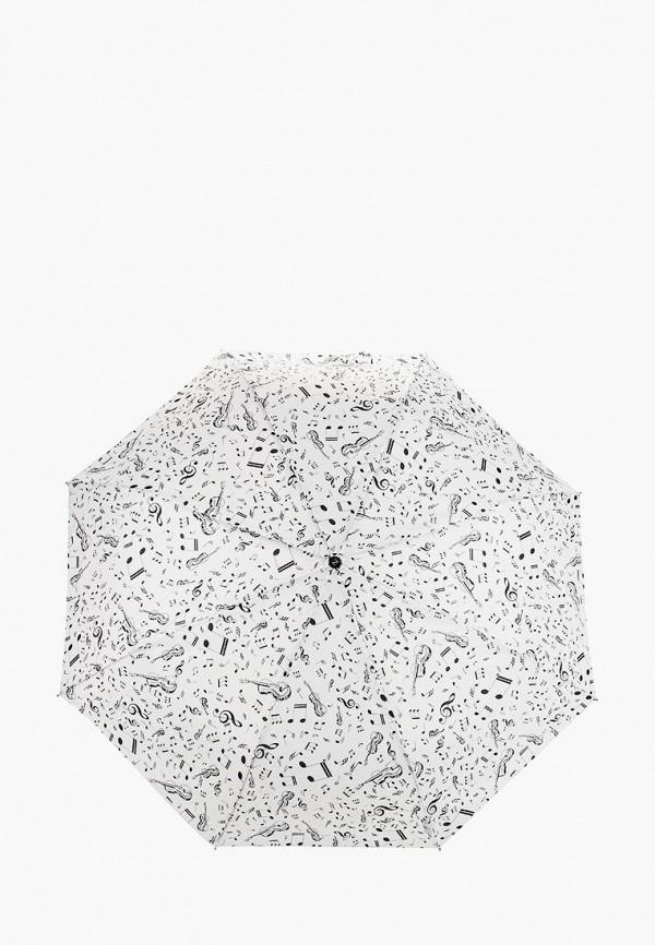 женский складные зонт zemsa, белый